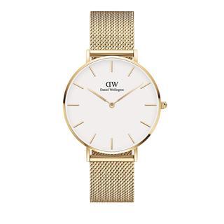 Daniel Wellington - Uhr - Petite 36mm Watch Evergold White - in gold - für Damen