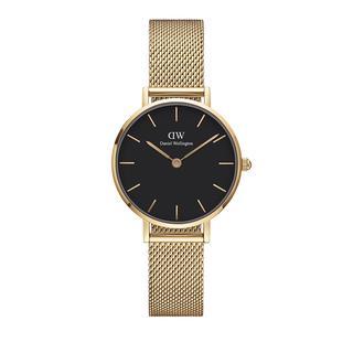 Daniel Wellington - Uhr - Petite 28mm Watch Evergold Black - in gold - für Damen