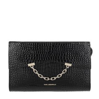 KARL LAGERFELD - Satchel Bag - Seven Croco Clutch Black - in schwarz - für Damen