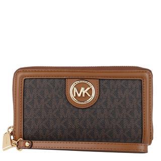 MICHAEL KORS - Portemonnaie - Large Flat Phone Case Brown/Acorn - in braun - für Damen