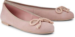 Pretty Ballerinas - Leder-Ballerina in rosa, Ballerinas für Damen