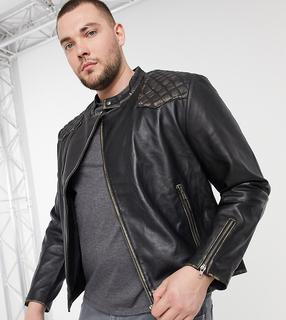 Bolongaro Trevor - PLUS – Harris – Bikerjacke aus Leder-Schwarz