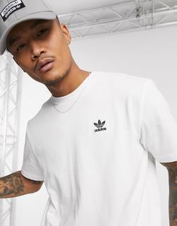 adidas Originals - T-Shirt mit Kleeblatt und Aufdruck hinten in Weiß