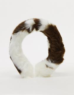 Jakke - Auffälliges Haarband aus Kunstpelz mit Kuhmuster-Mehrfarbig