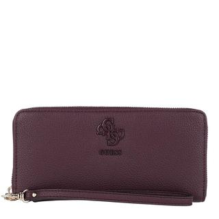 guess - Portemonnaie - Digital Large Zip Around Wallet Merlot - in lila - für Damen