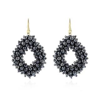 LOTT.gioielli - Ohrringe - CE Glasberry Ace Double Stones L *000 Metallic Blu Gold - in marine - für Damen