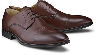 Steptronic - Schnürschuh Franco in dunkelbraun, Business-Schuhe für Herren