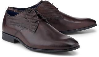 bugatti City - Derby-Schnürer in mittelbraun, Business-Schuhe für Herren