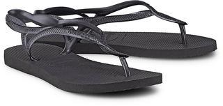 havaianas - Zehentrenner Luna in schwarz, Sandalen für Damen