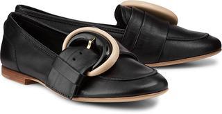 AGL - Luxus-Slipper in schwarz, Slipper für Damen