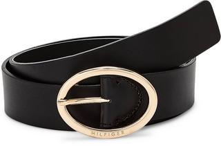 TOMMY HILFIGER - Oval Buckle Belt in schwarz, Gürtel für Damen