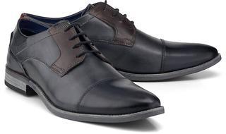 bugatti City - Business-Schnürer in hellgrau, Business-Schuhe für Herren