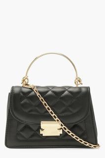 boohoo - Womens Quilted Mini Grab Bag Cross Body Bag - Black - One Size, Black