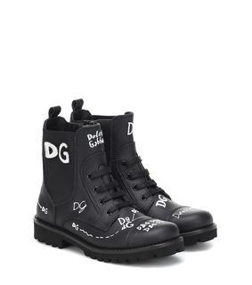 Dolce & Gabbana Kids - Ankle Boots aus Leder