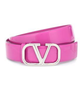 Valentino Garavani - Gürtel VLOGO aus Lackleder