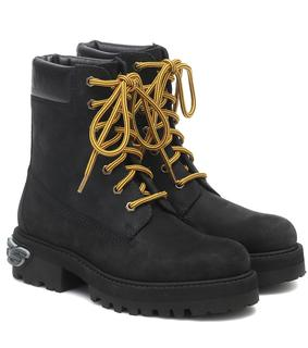 Vetements - Ankle Boots Trucker aus Leder