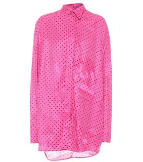 balenciaga - Bluse Tuxedo Scarf aus Chiffon