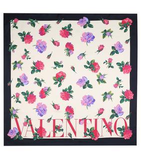 Valentino - Bedrucktes Tuch aus Seiden-Twill