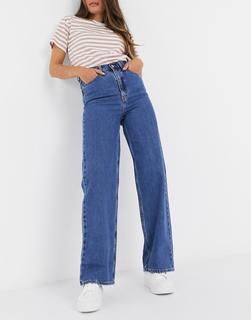 Levis - Levi's – Gerade und weit geschnittene Jeans mit hohem Bund in Dunkelblau