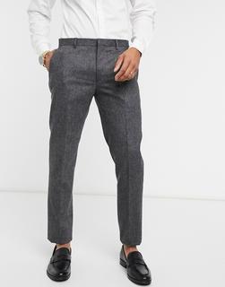 Shelby & Sons - Schmale Anzughose aus grauem Tweed