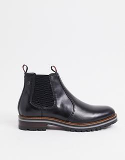 Base London - Hadrian – Chelsea-Stiefel aus gewachstem Leder in Schwarz