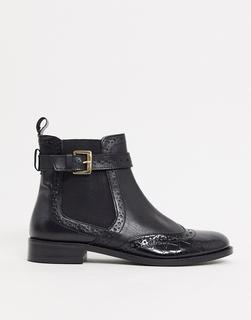 Dune - Parker – Schwarze Chelsea Boots aus Leder