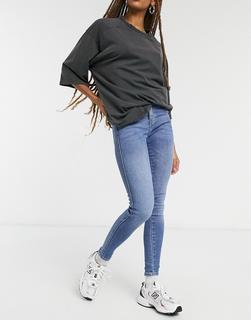 Dr Denim - Lexy – Second Skin – Besonders enge Jeans mit mittelhohem Bund in Blau