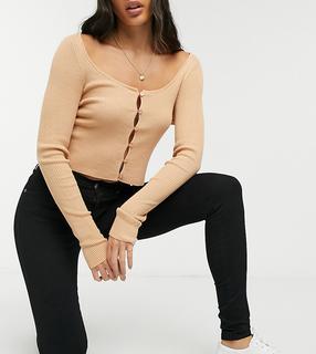 Dr Denim Tall - Lexy – Schwarze Superskinny-Jeans mit halbhohem Bund