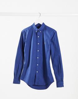 Polo Ralph Lauren - Schmal geschnittenes Oxford-Hemd mit geknöpftem Kragen und Polospieler-Logo in Dunkelblau