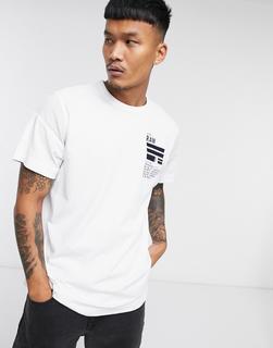 G-Star - Locker geschnittenes T-Shirt in Weiß mit Grafikprint am Rücken