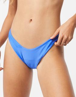 Aerie - Bikinihose mit hohem Beinausschnitt in Blau