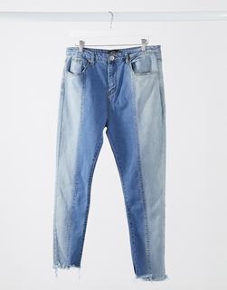 I Saw It First - Jeans mit Einsätzen in Blau