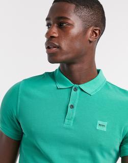 Boss - Prime – Schmal geschnittenes Polohemd-Grün