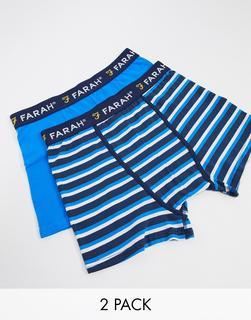Farah - Raby – Boxershorts in Blau und mit Streifenmuster im 2er-Pack-Mehrfarbig