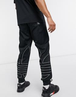 adidas Originals - Outline – Schwarze Jogginghose mit Dreiblatt-Logo