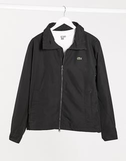 lacoste - Leichte Jacke mit versteckter Kapuze-Schwarz