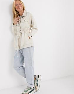 Lee Jeans - Lee – Rider – Jacke in Eco-Rinse-Waschung mit Gürtel-Beige