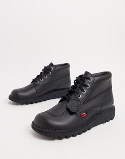 Kickers - Kick Hi – Schwarze Lederstiefel
