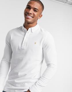 Farah - Ricky – Langärmliges Polohemd in Weiß