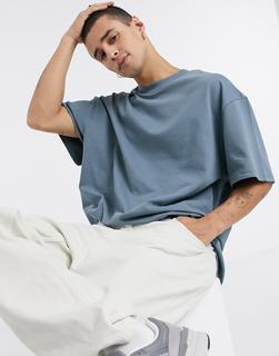 Weekday - Great – T-Shirt in Blau
