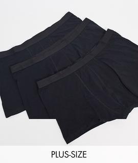 New Look - Plus – 3er-Pack Unterhosen in Schwarz