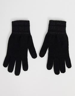 Levis - Levi's – Schwarze Lurex-Handschuhe