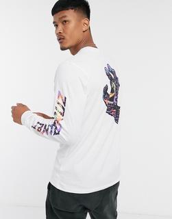 Santa Cruz - Hand Splatter– Langärmliges Shirt in Weiß