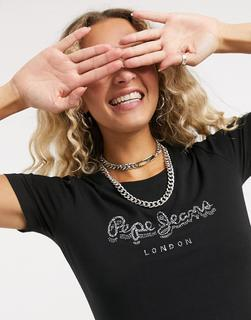 Pepe Jeans - Beatrice – T-Shirt in Schwarz