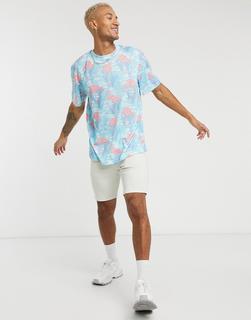 Urban Threads - T-Shirt mit Flamingodesign-Blau