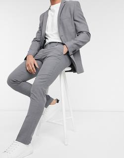 Jack & Jones - Premium – Hellgraue Anzughose in schmaler Passform