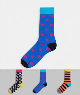 Happy Socks - HS By Happy Socks – 3 Paar Socken im Geschenkset-Mehrfarbig