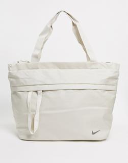 Nike - Oversize-Tasche mit Swoosh-Logo in Creme-Weiß