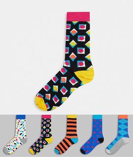 Happy Socks - HS By Happy Socks – Socken im 5er-Pack-Mehrfarbig