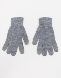 Glamorous - Touchscreen-Handschuhe in Grau